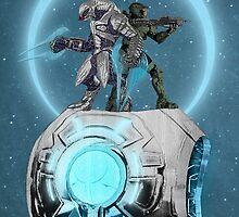 Halo Team mates, Mater Chief and Arbiter by BadWolfs