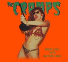 Bikini girls with machine guns (color body) - the Cramps by evaparaiso