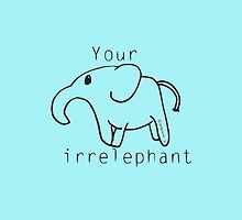 Elephant Irelephant iPhone case by Neve12