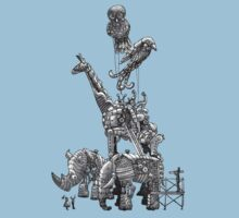 The Clockwork Menagerie (Silver) Kids Clothes