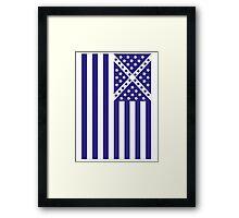 US Flag Scotland Framed Print