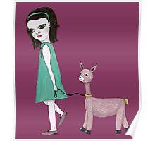 Llama Girl Poster