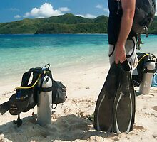 Man going scuba diving by photoeverywhere