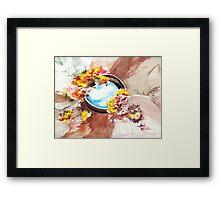 Flowers n sky Framed Print