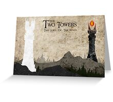 The Two Towers Greeting Card