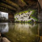 graffiti in a derelict fertiliser factory by ArthakkerHDR
