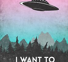 I want to believe UFO1 by Watercolorsart
