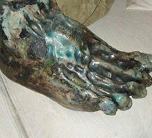 Giant troll foot - hand built clay by matthewsart