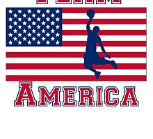 Basketball Dunk American Flag Team America by kwg2200