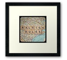 Raleigh Rules Framed Print