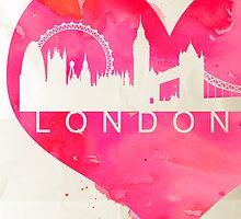 London  by Watercolorsart