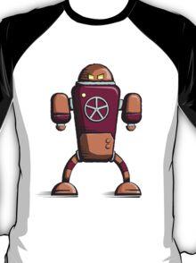 Retro robot – old orange T-Shirt