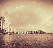 Vintage Photo Of Hawaii Beach by mrdoomits