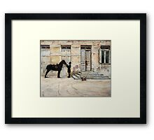 The Groom (Lo staffiere) Framed Print