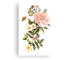 Watercolor vintage floral motifs Metal Print