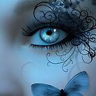 Butterfleye In Blue by Stephanie Rachel Seely