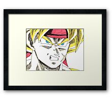 Bardock Will Eat You! Framed Print