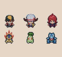 Pokemon HeartGold/SoulSilver Main Characters - Starter Edition by GreenTheRival