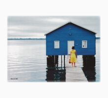 Solitude - The blue boatshed, Perth Australia. Kids Clothes