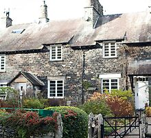 Quaint stone cottages at Skelwith Bridge by photoeverywhere