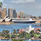 Queen Mary II at Sydney harbour by andreisky