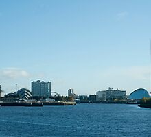 Glasgow Clydeside skyline by photoeverywhere