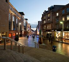 Buchanan Street in central Glasgow by photoeverywhere