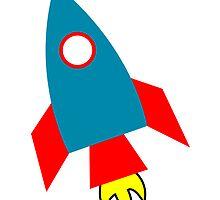 Cartoon Rocket Ship by kwg2200