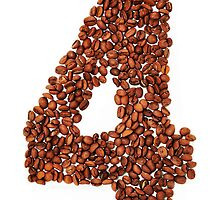 Number four. Coffee background by elgreko
