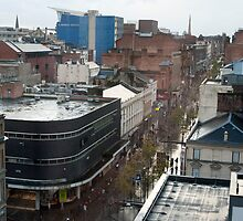 Aerial view of Sauchiehall Street in Glasgow by photoeverywhere