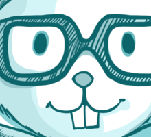Funny hipster squirrel in glasses Sticker