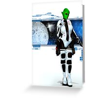 The Girl from Mars Greeting Card