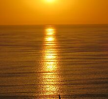 springtide's sunset II - puesta del sol en la primavera by Bernhard Matejka