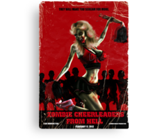 Zombie Cheerleader From Hell Canvas Print