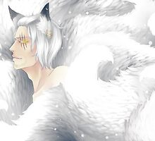 The Elder Kitsune - white by Mah-Blackberreh