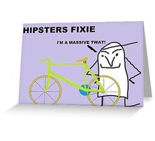 Hipster fixie Greeting Card