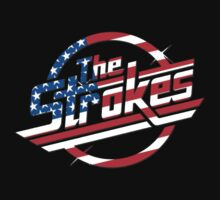 The Strokes Logo USA Flag by gakest