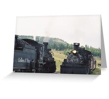 Cumbres-Toltec Narrow Gauge Railroad and Locomotive, Chama, New Mexico   Greeting Card