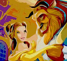 Beauty and the Beast Poster by Colin Bradley
