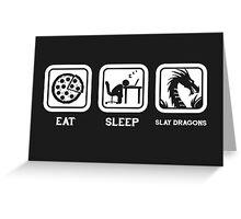 Eat, Sleep, Save Dragons (Repeat) Greeting Card