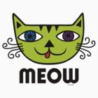 Meow Cat multi by Andi Bird