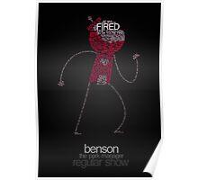 Regular Show / Benson Typography Tee Poster