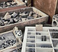 Old letterpress stuff by Marlene Hielema