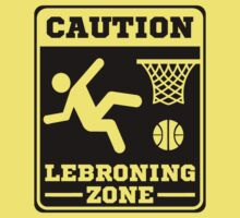 Caution Lebroning Zone T-Shirt - Miami Heat Lebron James Flopping by xdurango