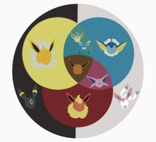 Eevee Evolutions Colour Wheel Kids Clothes