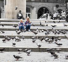 Pigeons and people by Marlene Hielema