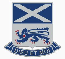 156th Infantry Regiment - Dieu Et Moi - God And I by VeteranGraphics