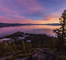 Dusk Above Crystal Bay by Richard Thelen