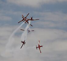 Roulettes Formation Break, Point Cook Airshow, Australia 2014 by muz2142