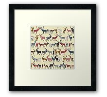 cream spice deer Framed Print